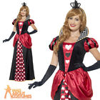 Adult Royal Red Queen of Hearts Costume Ladies Fairytale Fancy Dress Outfit New