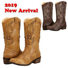 Upgraded SheSole Womens cowgirl heels block western cowboy wedding boots shoes