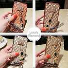Luxury Diamond Ring Holder Shockproof Back Case Cover For Samsung & Apple iPhone