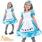 Child Alice Tea Party Costume Girls Fairytale Book Week Day Fancy Dress Outfit