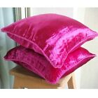"Pink Velvet 18""x18"" Solid Color Pillow Covers - Fuchsia Love"
