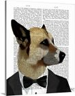 Solid-Faced Canvas Print Wall Art entitled Debonair James Bond Dog $75.99 USD on eBay