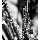 Poster Print Wall Art entitled Soprano Saxophone with sin...