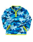 NWT Crazy 8 SNOW DAY Blue Camo Comouflage Pullover Fleece Top 1/2 Zip Shirt