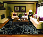 Modern Rug Contemporary Area Rugs Black 8x11 Abstract 5x8 Carpet 8x10 Cream 2x3