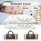 2 Pack Queen/King Size Memory Foam Bed Pillow Hypoallergenic Cooling Gel Comfort image