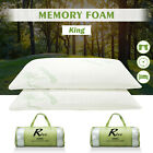 2× Hotel Bamboo Bed Pillow Memory Foam Hypoallergenic Cool Comfort w/Travel Bag