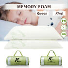 Set of 2 Queen/King Size Bed Pillow Memory Foam Hypoallergenic w/ Carry Bag image