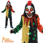 Child Sinister Clown Costume Halloween Horror Scary Fancy Dress Outfit New