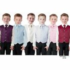 Boys Suits Waistcoat Suit Wedding Pageboy party outfit 4pc Baby Suit 6 Colours