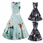 Sexy Women Vintage Style Floral Prints Dress Cocktail Party Prom Housewife Dress