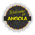 2 x Welcome To Angola Vinyl Stickers Travel Luggage #7778