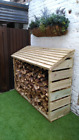 Handmade Large Wooden Log store Treated Timber. Many Sizes Available