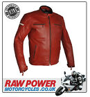 Richa Daytona Leather Motorcycle Motorbike Jacket - Red
