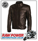 Richa Memphis Leather Motorcycle Motorbike Jacket - Café