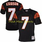 BOOMER ESIASON Cincinnati Bengals MITCHELL AND NESS Throwback PREMIER Jersey