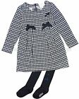 Le Chic Baby Girl's Houndstooth Dress with Tights, Sizes 12-24M