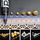 Dull Polish Alloy Metal Loose Spacer Beads Silver/Gold Plated 5/6/8/10mm