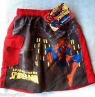 NWT Youth Marvel Spiderman Spider Sense Red & Black Swim Trunks Different Sizes