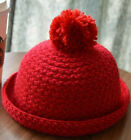 Women Winter Thick Handmade Spire Folding Witch Knit Beanie Cap Knitted Hats