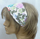 GENUINE VINTAGE 80s COTTON FLORAL HANDMADE HAIR WRAP BANDANA SCARF HEADBAND E416