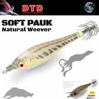"""DTD HI QUALITY SQUID JIG """"PAUK"""" NATURAL WEEVER  2.0"""