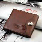 Men's PU Leather Wallet ID Credit Card Holder Money Purse Clutch Pockets 2 Color