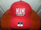 Univ Miami Redhawks OHIO Red FITTED S/M ADIDAS Hat Cap College Adult Mens NEW