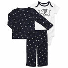 CARTER'S BABY BOY 3PC ELEPHANT NAVY CARDIGAN PANT CLOTHES SET 9 12 MONTHS OUTFIT