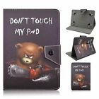 Don't Touch My Pad Flip Stand PU Leather Cover Case For  7*~7.8* inch MID Tablet