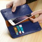 Genuine Real Cowhide Leather Wallet Card Pocket Cover Case For iPhone 7&7 Plus