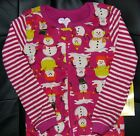 TCP BABY GIRL 1PC SNOWMAN FOOTED STRETCHIE SLEEPER COTTON PAJAMAS 3T CHRISTMAS