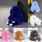 "6/7"" Fluffy Bunny Rabbit Fur Key Chain Ring For Phone Car Pendant Handbag Bag"
