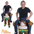 Adult Piggyback Monkey Costume Unisex Funny Animal Stag Fancy Dress Outfit New