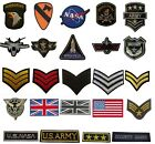 Military style Embroidered Iron On Sew On Patches Badges Transfers Fancy Dress for sale  United Kingdom