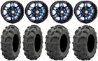 "STI HD7 14"" Wheels Blue/Black 28"" Mud Lite XL Tires Yamaha Grizzly Rhino"