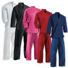 KANKU New Karate Uniform, Gi for Adult and Kids, black, white, blue, red, pink