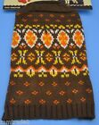 Brown Orange SKI STYLE Acrylic Knit DOG SWEATER New XXS XS Leash Hole