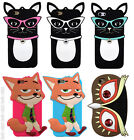 Smooth Animals Case Cover Skin For iPhone 5 5c 6 Plus Silicone Rubber 3D New