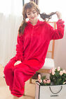 Unisex Adult Red Sleepwear Winter Hooded Pajamas Loungewear Red Sesame Street