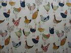 PRESTIGIOUS HARRIET VINTAGE CHICKENS 100% COTTON FABRIC CURTAINS CUSHIONS BLINDS