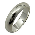 Sterling Silver Plain 5mm Band Wedding Engagement Ring 925 Jewelry All Sizes