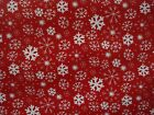 PRESTIGIOUS TEXTILES CHRISTMAS SNOWFLAKE RED FABRIC CURTAINS CUSHIONS BLINDS