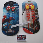 KIDS DISNEY CHARACTER DRINKING CUP BOTTLE STRAWS SPIDERMAN OR AVENGERS 2 PACK
