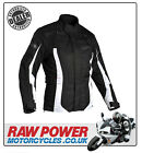 Richa LADIES Biarritz Motorcycle Motorbike Jacket - Black/White