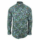 TROJAN RECORDS SHIRT MENS MULTI-COLOURED PAISLEY PATTERN LONG SLEEVE TOP