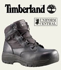 "NEW Timberland Mens Black Valor Duty 6"" Side Zip Boots - All Sizes - 1163A"