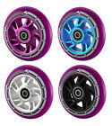 Team Dogz Purple PU 110 Alloy Swirl Wheel Stunt Scooter Wheels Silver Black Blue