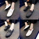 Men's Casual Sneakers Leather slip on Driving Black loafer Hollow Coming Shoes