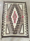 Vintage Navajo Rug Brown Cream